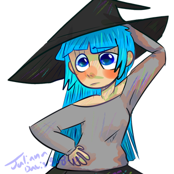 Blue Haired Witch by ThatDorkInClass