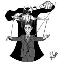 Obama Obama the NWO Puppet by KruppSteel