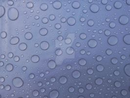 Water droplets on Plastic by JohnP1art