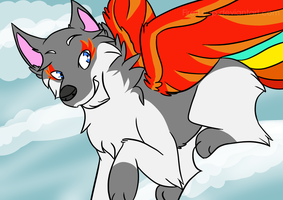 The Wolf Phoenix [Gift] by Fire-Loup