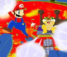 Super Mario Vs Bowser by Natty354