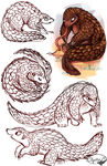 Pangolins by sharkie19