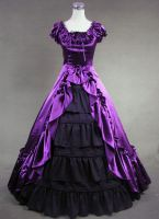 Purple and Black Victorian Dress for Sale by jdoris009