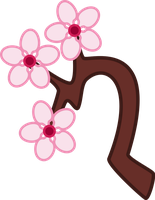 Cutie Mark: Cherry Blossom by cheezedoodle96