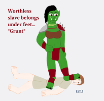 Orc Tramples Slave (Request) by TobyMcDee