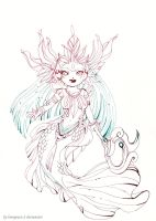 Lineart commission : chibi Nami river spirit by Lovepeace-S