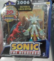 20th anniversary  Silver and IBLIS BITER figure by sonicfan40