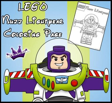 LEGO Buzz Lightyear Coloring Page by SKGaleana