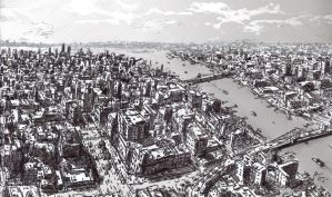 New York City Sketch by Adam-Varga