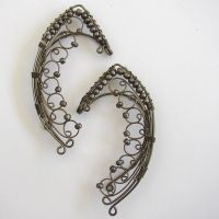 Tinuviel-Gunmetal ear wrap ear by LRakerDesigns