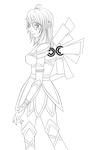 Lineart - Angel / Fairy by the-searching-one