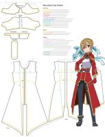 Boy Silica Overcoat Pattern Template by YumeLifeCosplay
