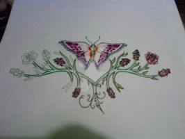 Butterfly Lower Back WIP by tattoo-parlour
