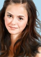 iPad painting of Nina Dobrev by chaseroflight