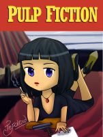 Pulp Fiction Chibi poster by Tefaloid