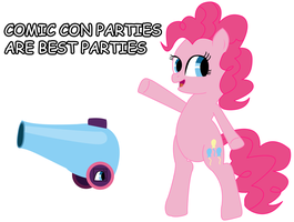 Pinkie Pie and her Comic-Con Party CAnnon by daimando