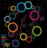 face on colours circle by bldng343