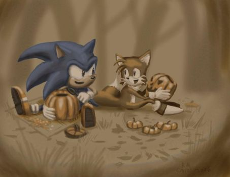 Carving pumpkins by NetRaptor