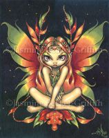 Autumn Night Fairy by jasminetoad