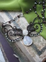 Nature Inspired Butterfly Copper necklace by Lirimaer86