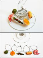 Hor D'Oeuvres Wine Charms by Bon-AppetEats