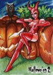 Hallowe'en 2 Sketch Card - Fabian Quintero 1 by Pernastudios