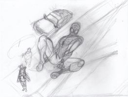 Spidey W.I.P. Sketch by ConstantM0tion