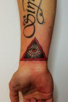 QUANTUM TATTOO MILANO - Traditional Eye by QuantumTattooMilano