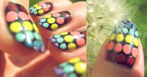 Rainbow dots by Schunki