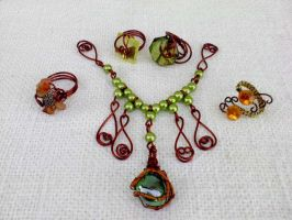 Jewels with copper wire by Mirtus63