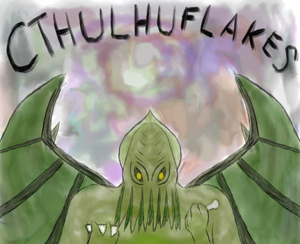 Cthulhu Flakes! So good, you'll be crazy for them! by korriken