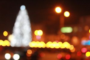 New Year's Tree Bokeh by julismith