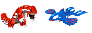 Groudon and Kyogre by scriptureofthescribe