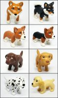 Pupples Figurines by LeiliaK