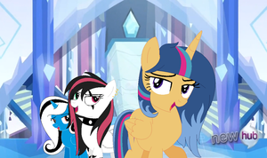 MLP Silver Sentry And Emala Jiss And Miss Smile by rainbowdash666666666