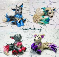 Fantasy Wolf Puppies by SweetMayDreams