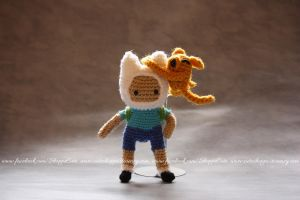 Finn Adventure Time Amigurumi by Cyntendo