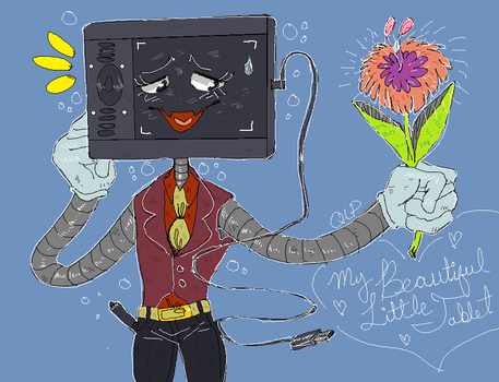 Mspaint doodle: My Tablet is a Person?!?! by Quite-Lovely-Puzzles