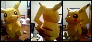 Pikachu Paper craft by The-TraveIing-Itch