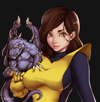 Kitty Pryde n Lockheed - X-MEN - Color by Salaiix