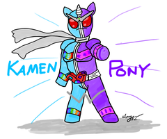 Kamen Pony W by Captain-Marvelous