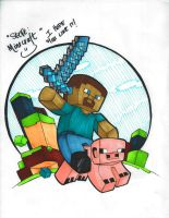 Steve: Minecraft by kuroIchigopro