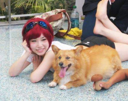 Anime Expo 2012 Cowboy Bebop - Ed and Ein by ShipperTrish