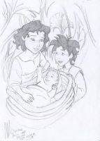 Miriam, Aaron and Moses by miriamartist