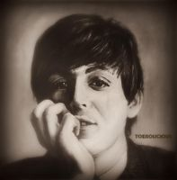 Paul McCartney - Painting by Tokiiolicious