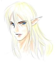 quickly sketched male elf by dragonchilde