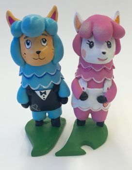 Animal Crossing Wedding Cake Toppers by CadmiumCrab