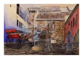 alleyway horse cart times by gypsysnail