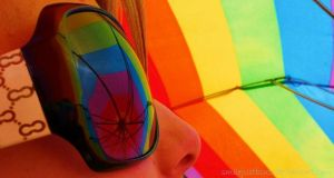 I see my world in a rainbow by smilejustbcuz