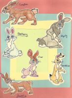 Watership Down Characters from the Tv Series by Embemxrabbit